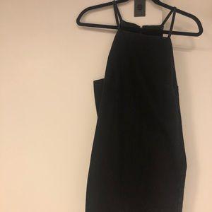 Topshop black denim mini dress